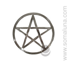 Silver Altar Pentacle, 6 inch
