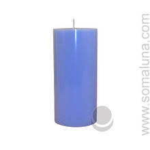 Morning Blue 6.5 x 3 Pillar Candle