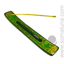 Green Flowers Stick Incense Burner