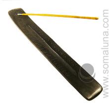 Black Carved Stick Incense Burner