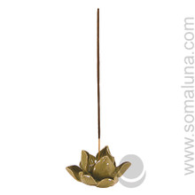 Lotus Flower Incense Burner, Green