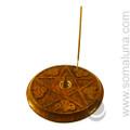Wiccan Pentacle Incense Burner