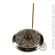 Pentacle Cone & Stick Incense Burner