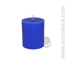 Lapis Blue 3.5 x 3 Pillar Candle