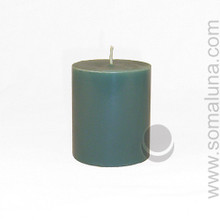 Sea Green 3.5 x 3 Pillar Candle