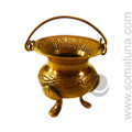 Celtic Brass Cauldron, 2.25 inch