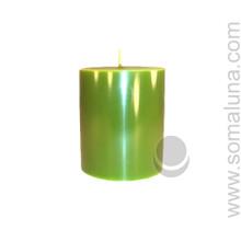 Springtime Green 3.5 x 3 Pillar Candle