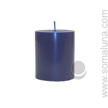 Midnight Blue 3.5 x 3 Pillar Candle