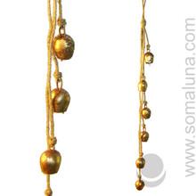 "Small Copper Mongolian Bells 27"""