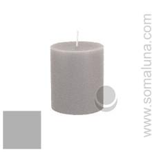 Silver Gray 3.5 x 3 Pillar Candle