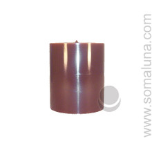 Autumn Brown 3.5 x 3 Pillar Candle