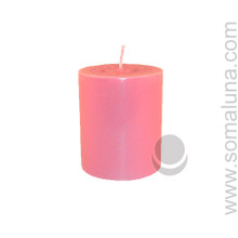 Lotus Pink 3.5 x 3 Pillar Candle