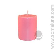 Lotus Pink 3.5 x 3 Pillar Candle