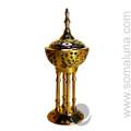 Brass Byzantine Incense Burner, 8 inch