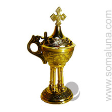 Brass Carved Church Incense Burner