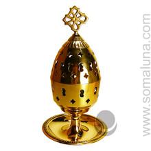 Brass Church Incense Burner Candle Holder