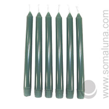Sea Green 10 inch Taper Candle