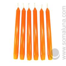 Mandarin Orange 10 inch Taper Candle