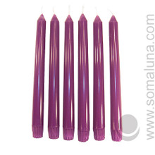 Royal Purple 10 inch Taper Candle