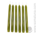 Springtime Green 10 inch Taper Candle