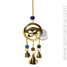 Brass Eye of Horus Wind Chime