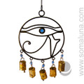 Iron Eye of Horus Wind Chime with Beads