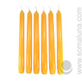 Honey Amber 10 inch Taper Candle