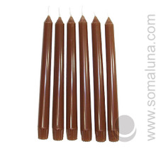 Autumn Brown 10 inch Taper Candle