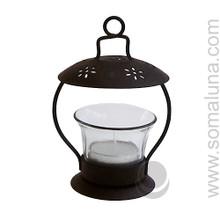 Black Iron Lantern Tealite Candle Holder