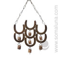 Lucky 7 Horseshoes Wind-chime