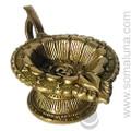 Brass Om Lotus Lamp Incense Burner