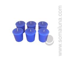 Lapis Blue Votive Candle