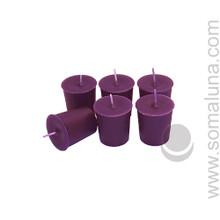 Velvet Eggplant Votive Candle
