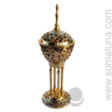 Large Brass Byzantine Incense Burner