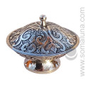 Elegant Silver Incense Burner