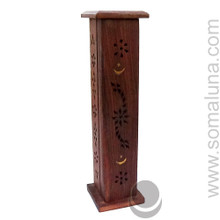 Moon & Stars Tower Wooden Incense Burner