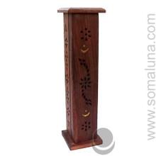 Moon & Stars Tower Wooden Incense Burner