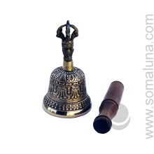 Seven Metal Tibetan Bell with Striker, 5 inch