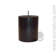 Abyss Black 3.5 x 3 Pillar Candle Discount