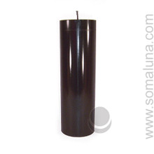 Abyss Black 9.5 x 3 Pillar Candle Discount