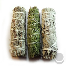 White, Cedar & Blue Sage Mini Smudge Wand Sampler