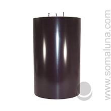 Abyss Black 9.5 x 6 Pillar Candle 3-wick
