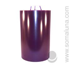 Velvet Eggplant 9.5 x 6 Pillar Candle 3-wick