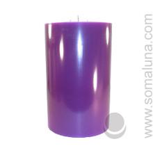 Royal Purple 9.5 x 6 Pillar Candle 3-wick