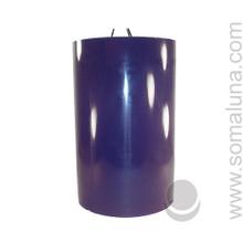 Midnight Blue 9.5 x 6 Pillar Candle 3-wick