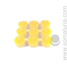 Summer Yellow Tealight Candle