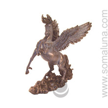 hand-painted cold-cast bronze