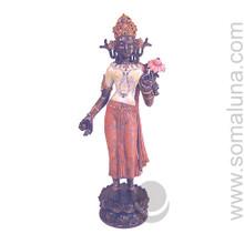 Tara with Lotus of Wisdom, bronze