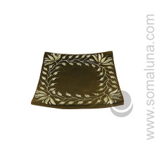Lotus Border Stone Candle Plate