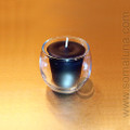 Clear Glass 'Roly Poly' Votive Holder